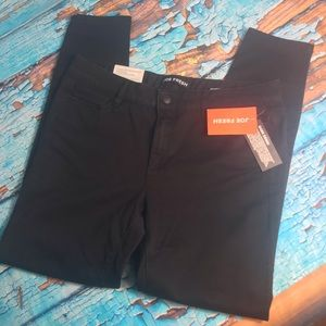 Joe Fresh Black Mid-Rise Jeggings